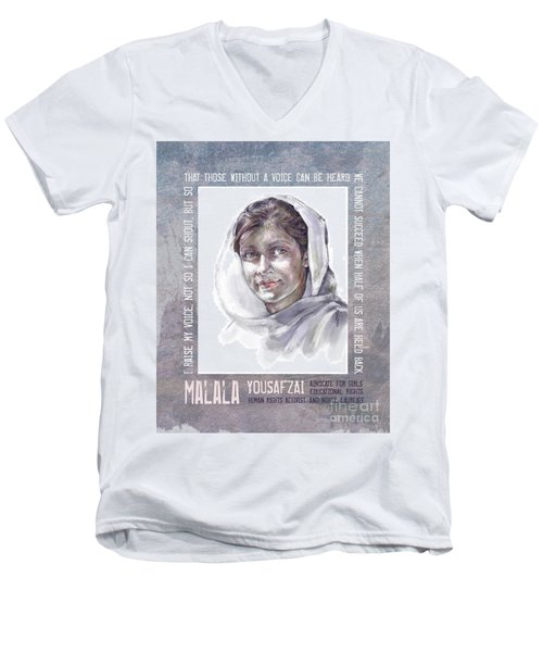Malala Men's V-Neck T-Shirt