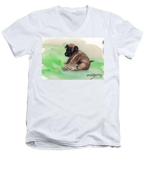 Malinois Pup 3 Men's V-Neck T-Shirt