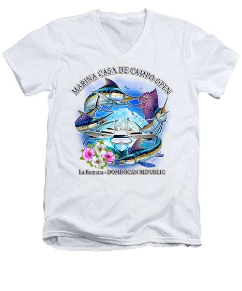 Marina Casa De Campo Open Art Men's V-Neck T-Shirt