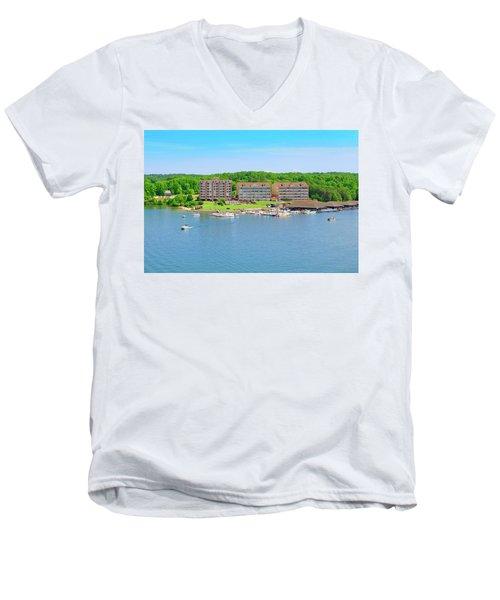 Mariners Landing Poker Run Men's V-Neck T-Shirt