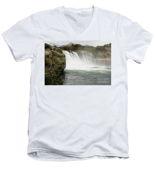 Maruia Falls Men's V-Neck T-Shirt