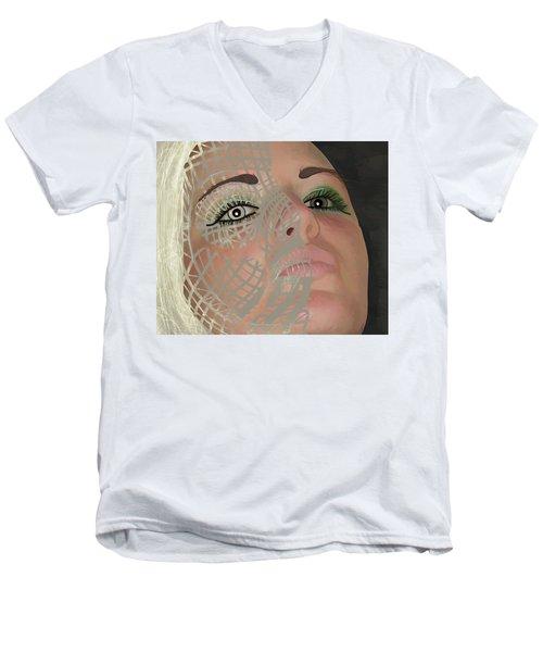 Mask Dark And Light Men's V-Neck T-Shirt