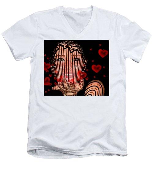 Mask Of Valentine Men's V-Neck T-Shirt