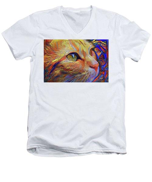 Max The Ginger Cat Men's V-Neck T-Shirt
