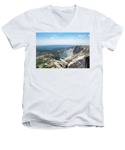 Medicine Bow Peak Men's V-Neck T-Shirt