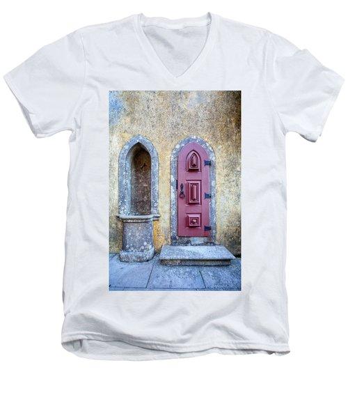 Medieval Red Door Men's V-Neck T-Shirt