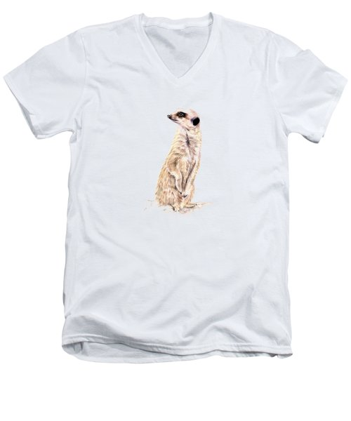 Meerkat In Charge Men's V-Neck T-Shirt