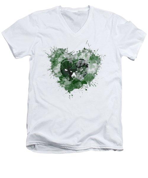 Melwaukeee Heart Men's V-Neck T-Shirt