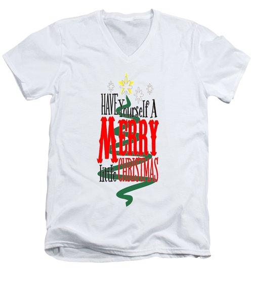 Merry Little Christmas Men's V-Neck T-Shirt