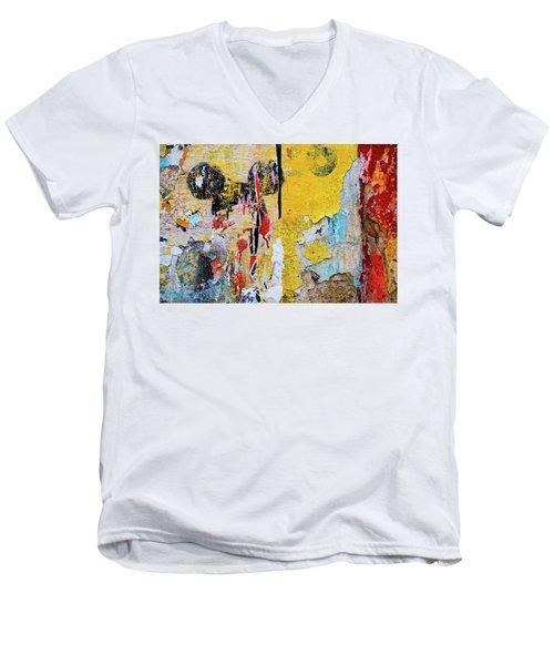 Mickeys Nightmare Men's V-Neck T-Shirt