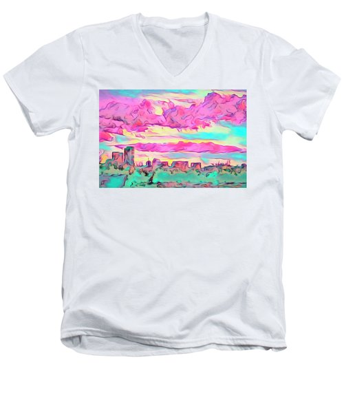 Mile High Sunset Men's V-Neck T-Shirt
