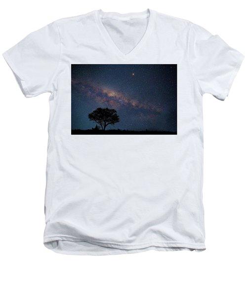 Milky Way Over Africa Men's V-Neck T-Shirt