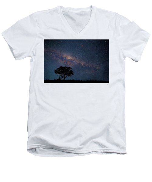 Milky Way Over Africa Men's V-Neck T-Shirt