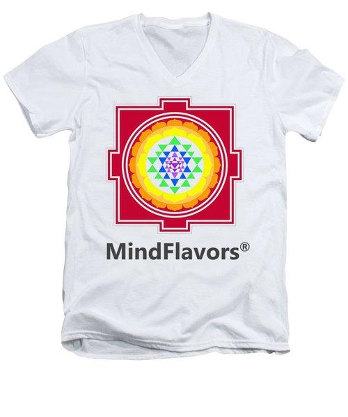 Mindflavors Original Medium Men's V-Neck T-Shirt