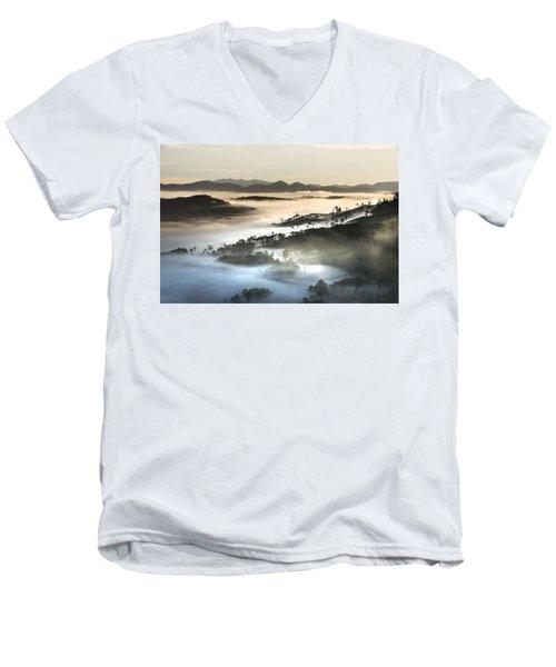 Mist Men's V-Neck T-Shirt
