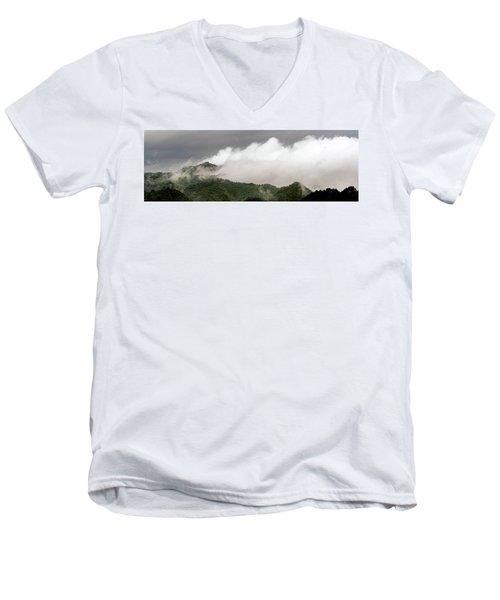 Misty Mountains II 3x1 Men's V-Neck T-Shirt