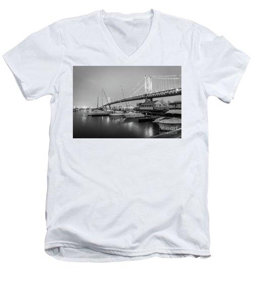 Monochrome Marina  Men's V-Neck T-Shirt