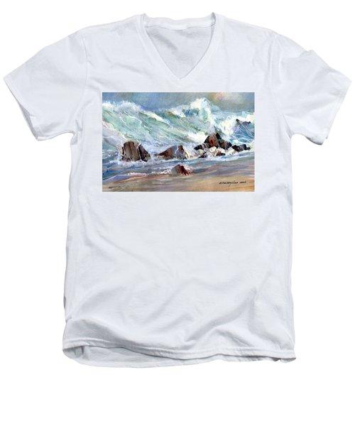Monster Waves Men's V-Neck T-Shirt