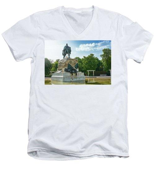 Monument To General Arsenio Martinez Campos In Madrid, Spain Men's V-Neck T-Shirt