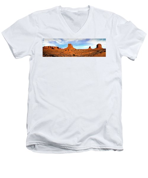 Men's V-Neck T-Shirt featuring the photograph Monument Valley by David Morefield