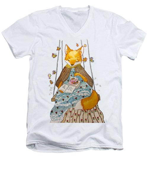 Morgan's Fox Men's V-Neck T-Shirt