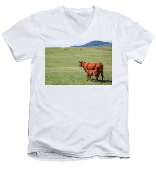 Mother And Daughter Men's V-Neck T-Shirt