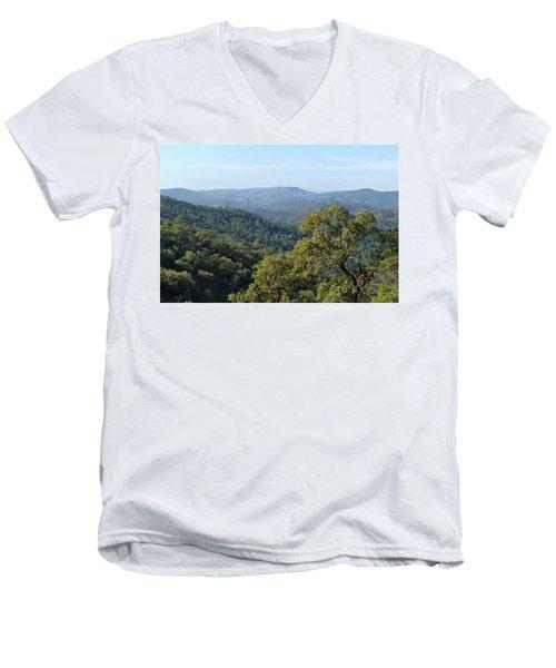 Mountains Of Loule. Serra Do Caldeirao Men's V-Neck T-Shirt