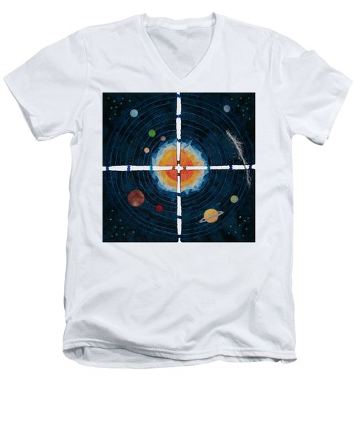 My Very Educated Mother  Just Said Uh-oh, No Pluto Men's V-Neck T-Shirt