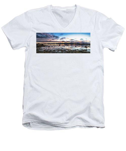 Myre Swapm Walkway On Vesteralen Norway Men's V-Neck T-Shirt