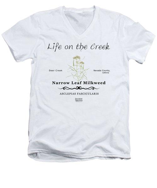 Narrow Leaf Milkweed Men's V-Neck T-Shirt
