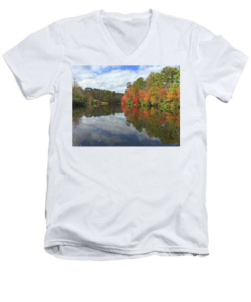 Natures Colors Men's V-Neck T-Shirt