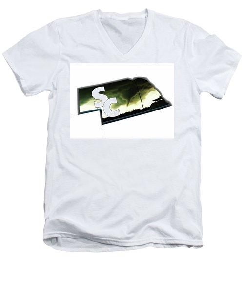 Nebraskasc Logo White Men's V-Neck T-Shirt