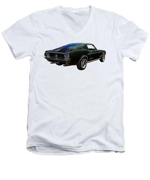Neon Mustang Fastback 1967 Men's V-Neck T-Shirt