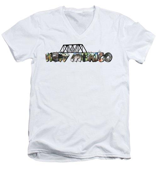 New Mexico Big Letter Men's V-Neck T-Shirt