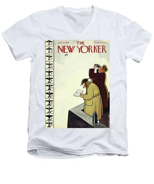 New Yorker June 13th 1942 Men's V-Neck T-Shirt