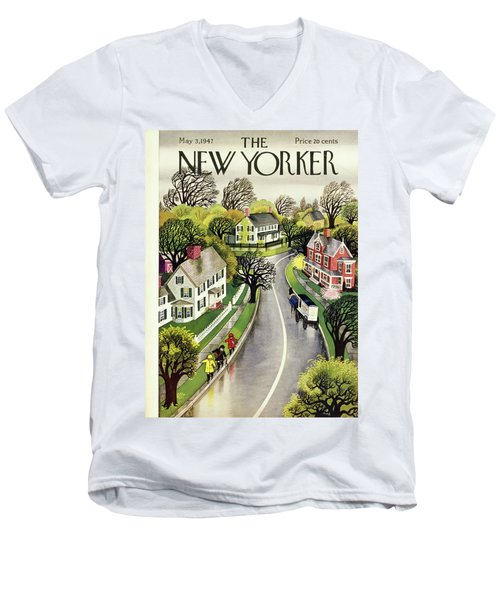 New Yorker May 3rd 1947 Men's V-Neck T-Shirt