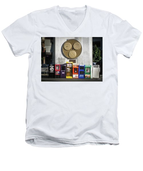 Newsstands At Gilmore Men's V-Neck T-Shirt