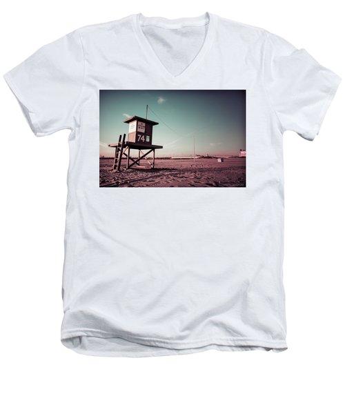 No Lifeguard On Duty Men's V-Neck T-Shirt
