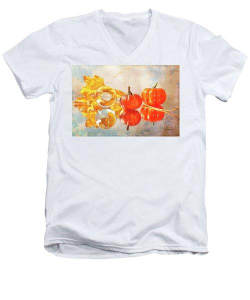 Men's V-Neck T-Shirt featuring the photograph October Reflections by Randi Grace Nilsberg