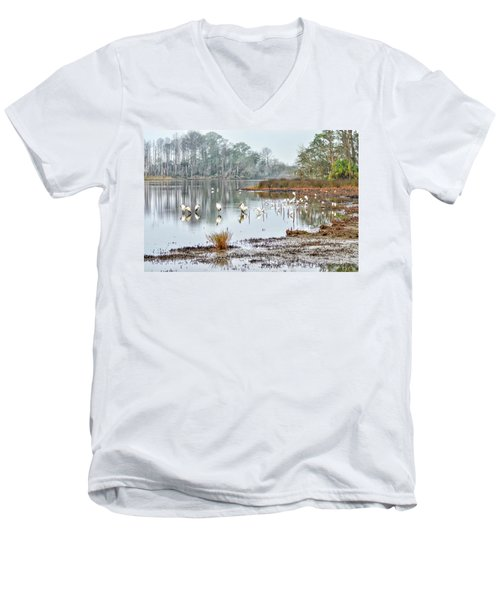 Old Rice Pond Men's V-Neck T-Shirt