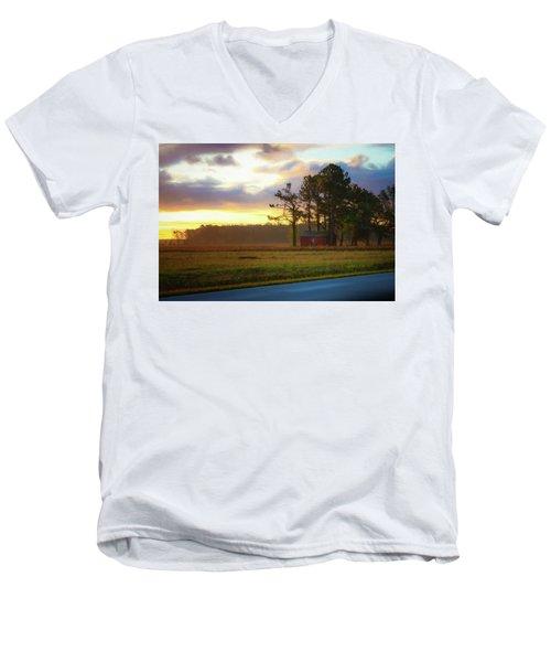 Onc Open Road Sunrise Men's V-Neck T-Shirt