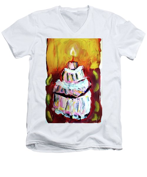 One Candle Men's V-Neck T-Shirt