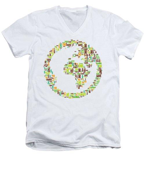 One Planet Men's V-Neck T-Shirt