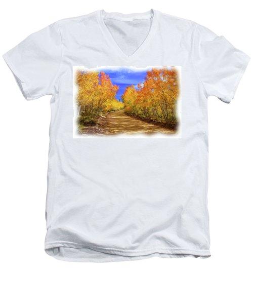 Painted Aspens Men's V-Neck T-Shirt