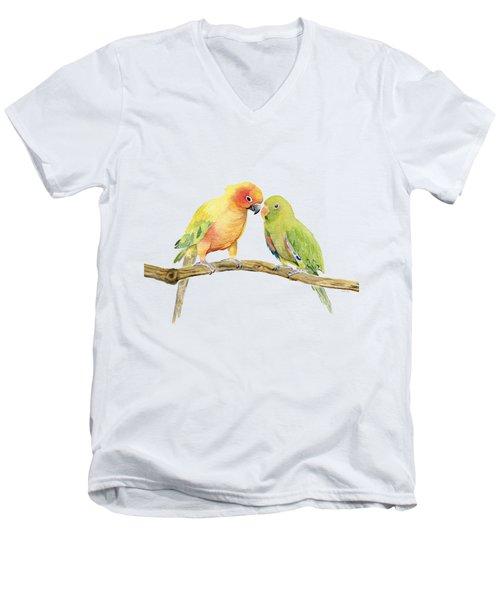 Parakeet - Friendship Men's V-Neck T-Shirt