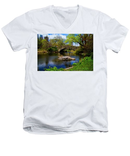 Park Bridge2 Men's V-Neck T-Shirt