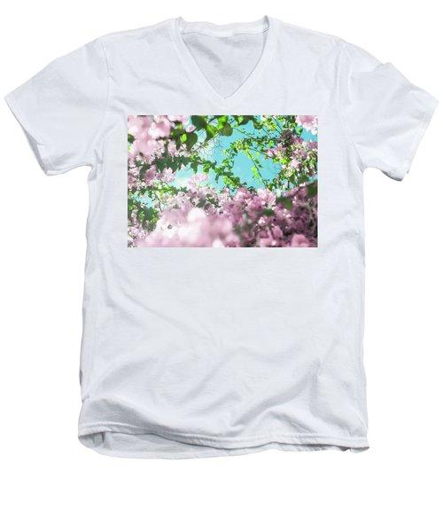 Floral Dreams II Men's V-Neck T-Shirt