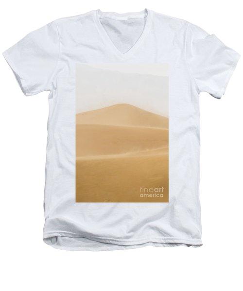 Patterned Desert Men's V-Neck T-Shirt