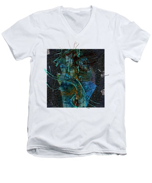 Peacock Feathers Men's V-Neck T-Shirt