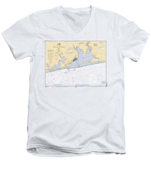 Pensacola Bay And Approaches Noaa Chart 11382 Men's V-Neck T-Shirt